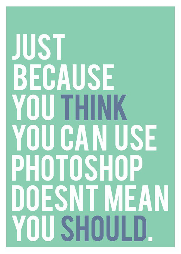 How to annoy your designer friends – Photoshop